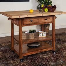 buy kitchen island with butcher block top base finish rustic oak