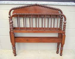 Antique Headboard And Footboard Vintage Spindle Headboard Etsy
