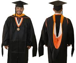 master s gown and master s students