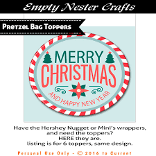 pretzel bags for favors christmas pretzel bag toppers party favor printable