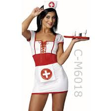 Nurse Halloween Costumes Womens 2 Piece Nurse Costume Lace Nurse Dress Nurse