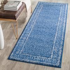 Safavieh Light Blue Rug Safavieh Adirondack Vintage Light Blue Dark Blue Runner Rug 2 U00276