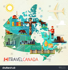 Map Of Canada by Map Canada Travel Icons Canada Travel Stock Vector 418790785