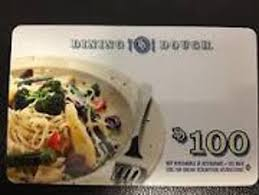 dining gift cards free 100 dining dough restaurant gift card gift cards