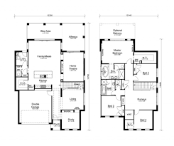 small modern floor plans house plan modern double story house designs the douglas double