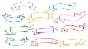 10 crayon banner ribbon png transparent onlygfx com