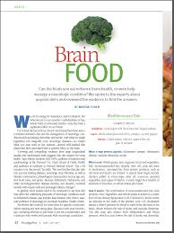 brain food could what you eat protect against stroke alzheimer u0027s