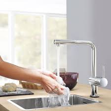minta touch single handle pull out kitchen faucet amazon com