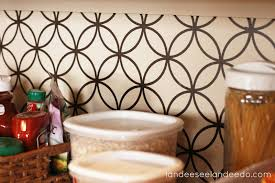 vinyl wallpaper backsplash from