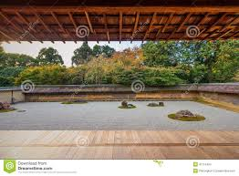 Japan Rock Garden by Zen Rock Garden In Ryoanji Temple Stock Photo Image 47116424