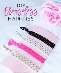 creaseless hair ties diy creaseless hair ties tutorial the southern thing