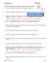probability worksheets with answers austsecure com