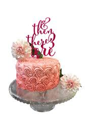 a and we re cake topper and then there were three four five cake topper baby shower