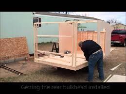 home built camper build week 2 youtube