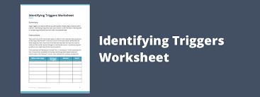 free printable identifying anger triggers worksheet theranest