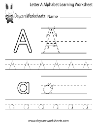 free letter a alphabet learning worksheet for preschool plus lots