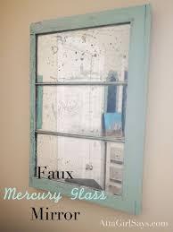diy faux mercury glass window pane mirror mercury glass spray