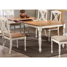 meredith extending dining table turned legs biscotti u0026 caramel