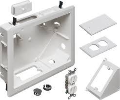 home theater wall plate arlington industries tvb810 recessed 8 u0027 u0027 x 10 u0027 u0027 tv box for home