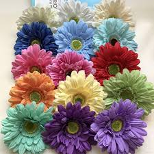 decorative flower silk daisy artificial flowers for wedding home decoration 13cm