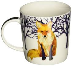 Fox Mug by Amazon Com Paperproducts Design Winter Solstice Fox Porcelain