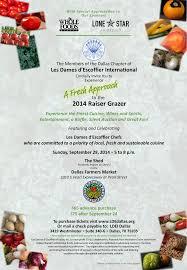 d raisser cuisine tickets available for dallas chapter of les d escoffier
