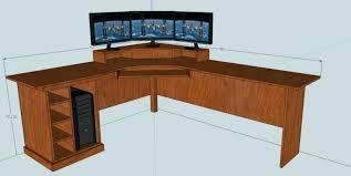 Corner Desk Diy L Shaped Computer Desk Plans How To Build An L Shaped Desk Corner