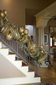 Banister Garland Ideas Stair Banister Garland Staircase Gallery