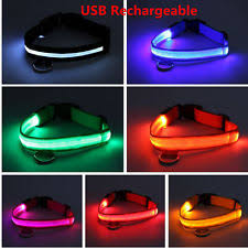 dog collar lights waterproof light up dog collar ebay