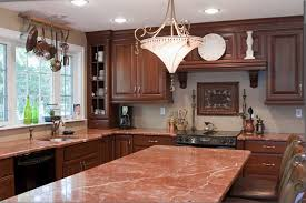 granite countertop kitchen cabinets black and white backsplash