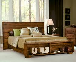 Real Wood Bedroom Set Bedrooms Solid Wood Platform Storage Bed Modern Solid Wood