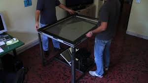 Make Your Own Coffee Table by Coffee Table How To Build Your Own Multitouch Table Youtube Coffee