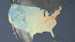 Continental United States Map by Gms Nasa Images Show Human Fingerprint On Global Air Quality