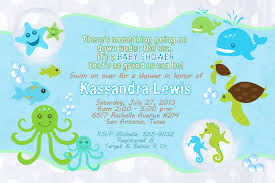 under the sea baby shower invitations plumegiant com