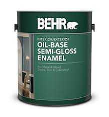 oil base semi gloss enamel paints for your project behr