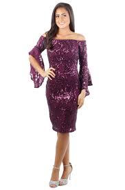 sequin dresses a19726 sleeve the shoulder sequin dress estelle s dressy
