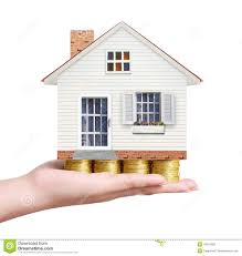 real estate concept buy house from coin stock image image 43167083