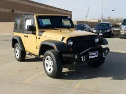 gold jeep wrangler gold jeep wrangler for sale in dallas tx carmax