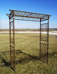 Metal Garden Arches And Trellises Metal Annabelle Romantic Garden Arbor Rustic Trellis
