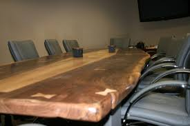 Live Edge Boardroom Table Conference Table In Sacramento California Juvet Artistic Woodwork