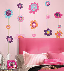 wall decals ideas page stone backgrounds covering flowers colourful roommates wall decal gorgeous pinky indoors decoration functional luxurious lookings removable