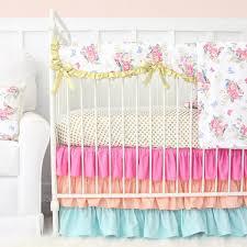 Bright Crib Bedding S Bright Boho Floral Bumperless Crib Bedding Caden