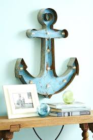 Anc Home Decor Wall Ideas Metal Anchor Wall Decor With Lights Down Oxford