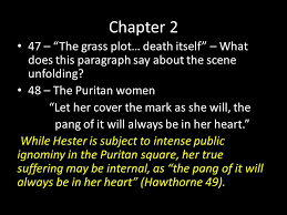 the scarlet letter chapter 2 and 3 awesome passages ppt download