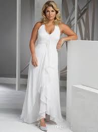 2016 beach plus size wedding dresses cheap v neck halter wedding