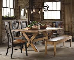 Tavern Table Set Furniture Bassett Bench Made Four Person Round Tavern Table Set