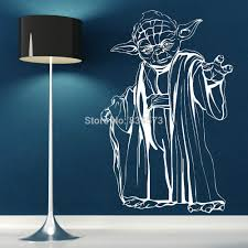 free shipping yoda star wars wall art sticker wall decal diy home free shipping yoda star wars wall art sticker wall decal diy home decoration wall mural removable bedroom sticker 57x88cm