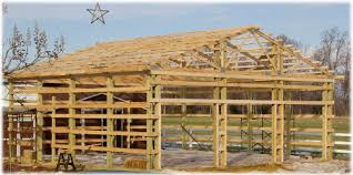 How To Build A Pole Barn Shed Roof by Pole Barns Vs Stick Built Conventional Framing Or Pole Barn