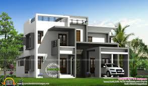 kerala home design villa flat roof contemporary villa kerala home design and single house