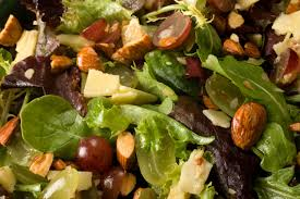 thanksgiving green salad recipes grape and almond mixed greens salad recipe chowhound